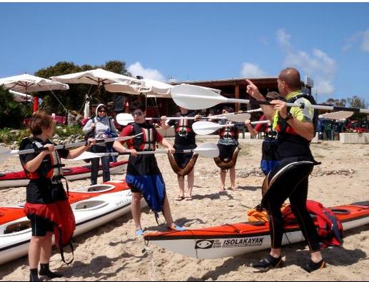 Kayaking in Italy, Susan Van Allen, Barbara Kossy, Sardinia, San Pantaleo