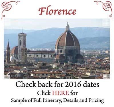 Florence, Travel with Susan Van Allen